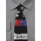 Thin Line Neck Tie - Distressed US Flag