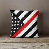 Thin Line Pillows - Angled Flag