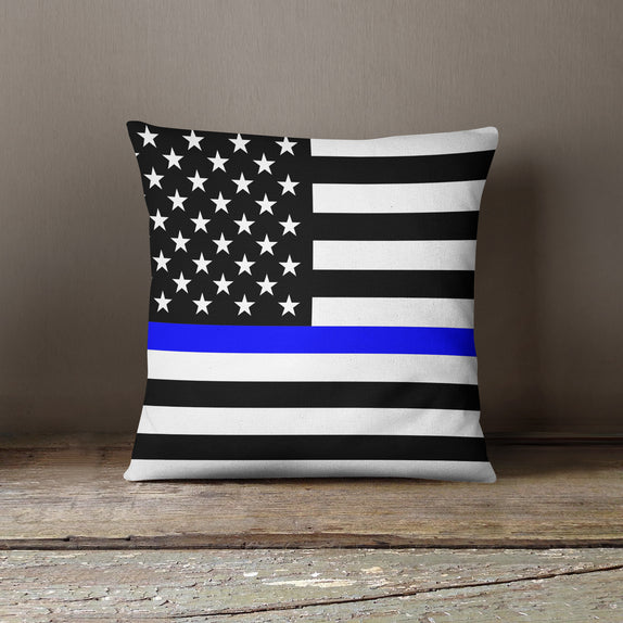 Thin Line Pillows - US Flag - Bo15 | Custom Shirts | Custom Gear | Design Your Own