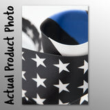 Thin Line Neck Tie - Diagonal US Flag