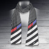 Thin Line Scarf - Diagonal US Flag