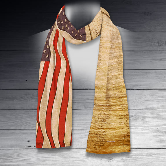 Patriotic Scarf - US Flag & Constitution
