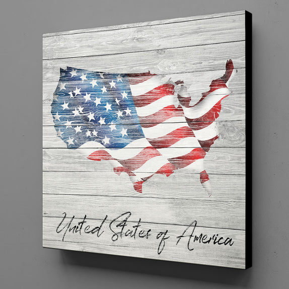 US Flag U.S.A. on Canvas