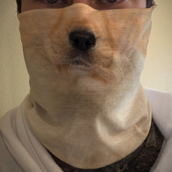Face Cover - DOG - Yellow Lab Puppy