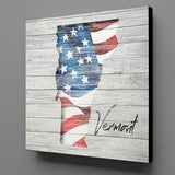 US Flag State on Canvas