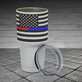 Thin Line - 30oz Insulated Tumbler Cup - Horizontal Flag
