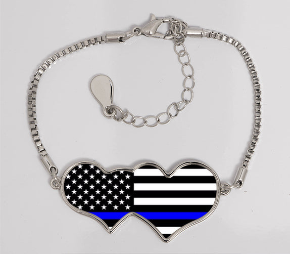 Thin Line - Bracelet Heart to Heart Horizontal Flag