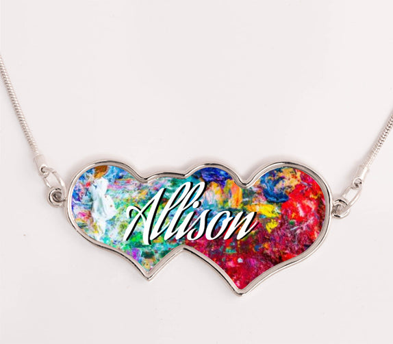Custom jewelry necklace heart to heart hh bo15 custom jewelry necklace heart to hearts aloadofball Image collections