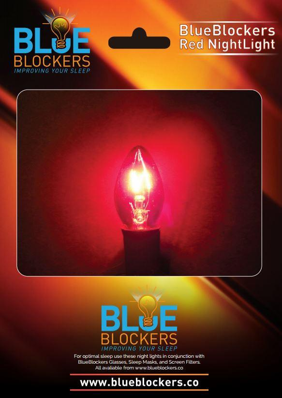 Blue Blockers USA | Block Blue Light & Improve Your Sleep:Sale Sold Out Night Light with 2x Red LED bulbs (US),Lighting