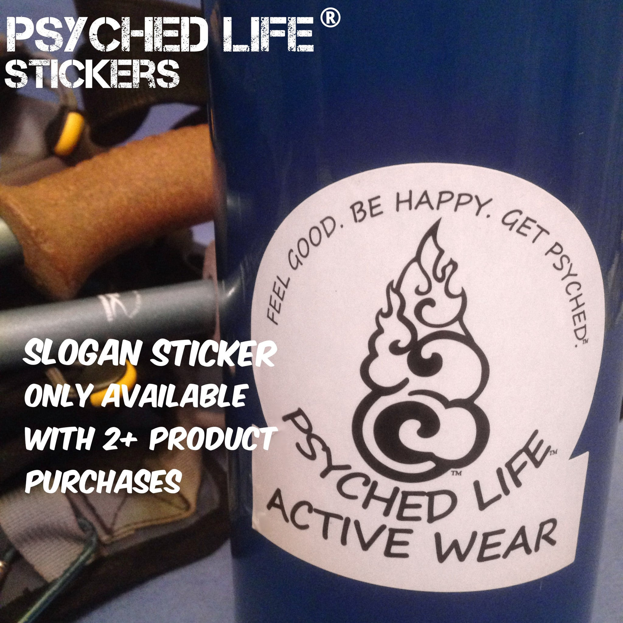 Psyched Life® Logo Sticker: 2-pack