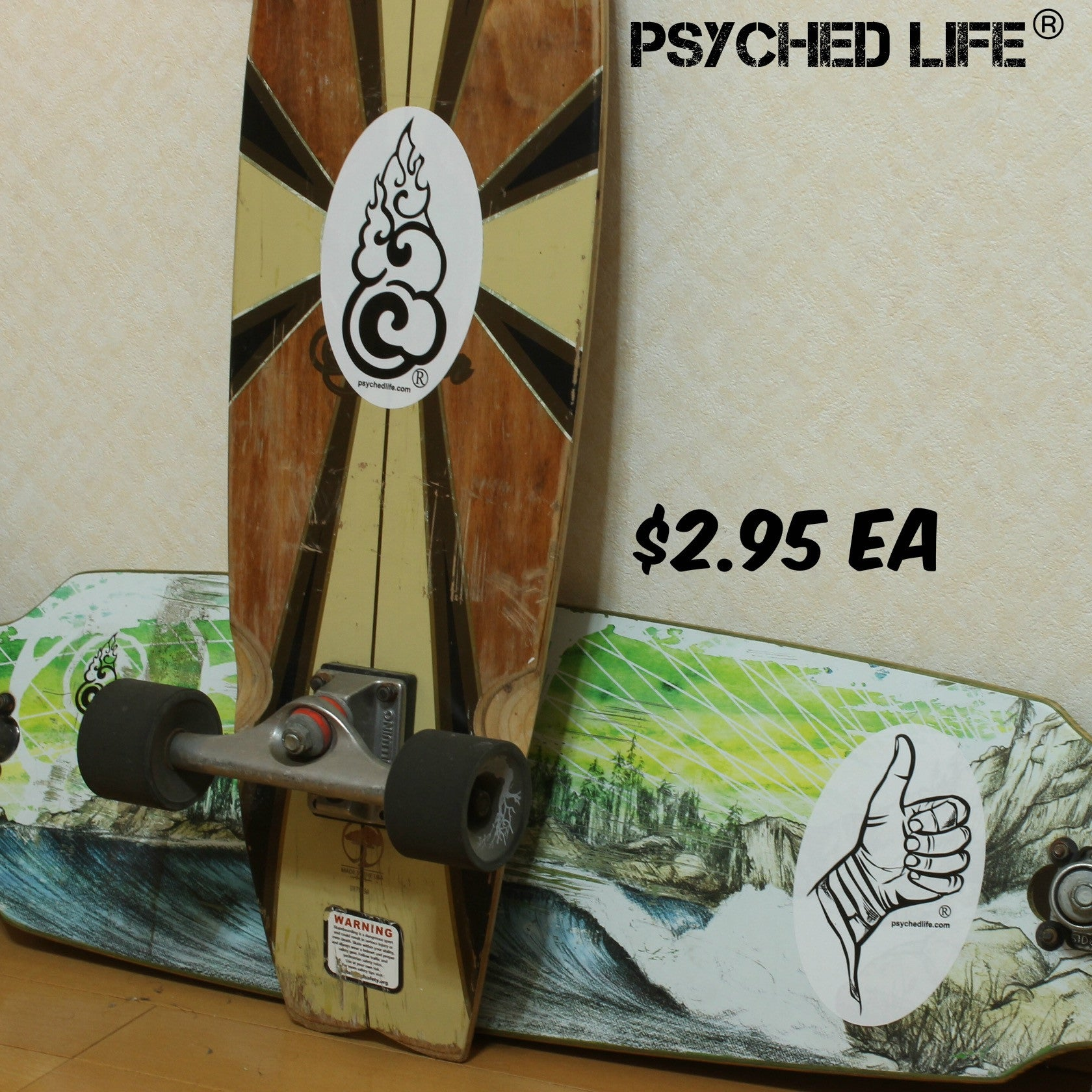 Psyched Life® Sticker: Large Logo