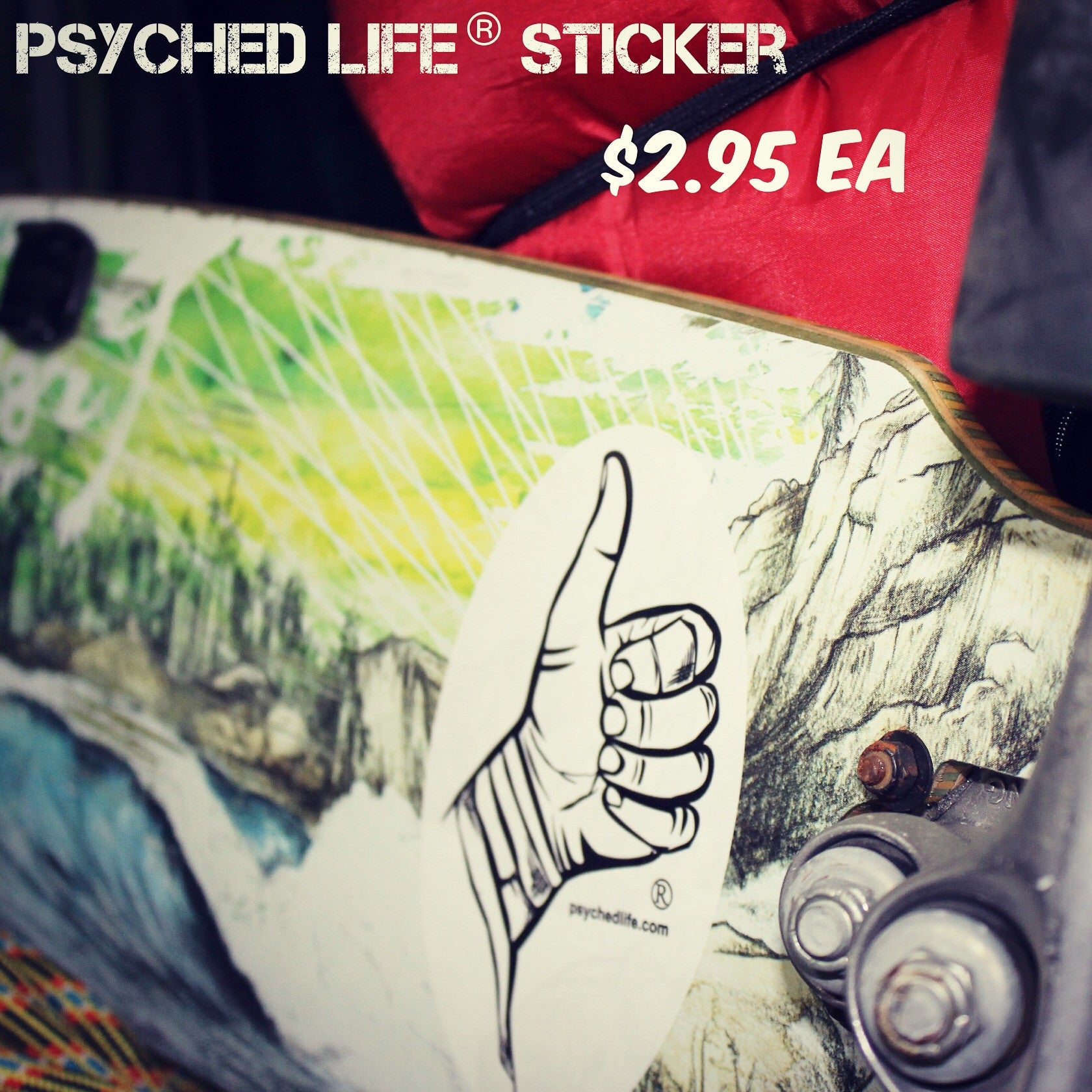 Psyched Life® Sticker: Thumbs Up