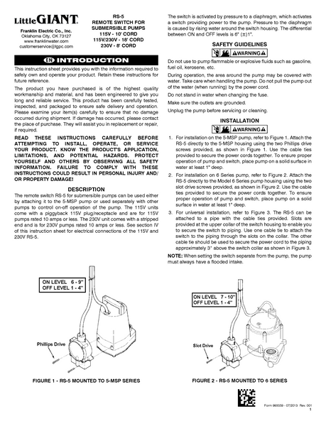 little giant technical specifications 2 md process flow little giant installation manual rs 5