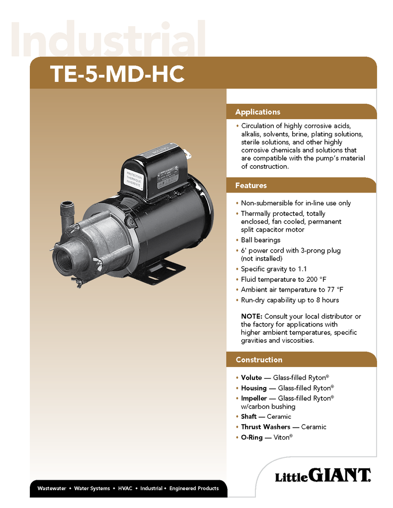Little Giant Technical Specifications (TE-5-MD-HC)