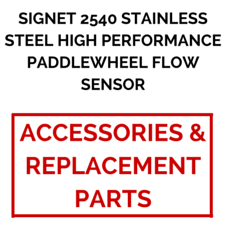 Signet 2540 Stainless Steel High Performance Paddlewheel Flow Sensor (Accessories & Replacement Parts) - Process Flow Industrial Supply