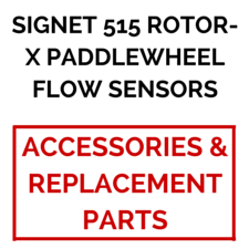 Signet 515 Rotor-X Paddlewheel Flow Sensors (Accessories & Replacement Parts) - Process Flow Industrial Supply