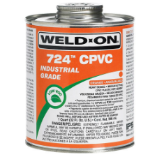 Weld-On 724 Low VOC CPVC Solvent Cement, Heavy Bodied, Medium Setting - Process Flow Industrial Supply