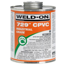 Weld-On 729 Low VOC CPVC Solvent Cement, Extra Heavy Bodied, Slow Setting - Process Flow Industrial Supply