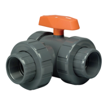 "Hayward LA Series Lateral Three-Way True Union Ball Valves 1/2"" to 6"" PVC & CPVC - Process Flow Industrial Supply"