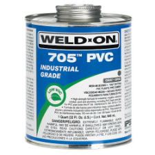Weld-On 705 Low PVC Solvent Cement, Medium Bodied, Fast Setting - Process Flow Industrial Supply