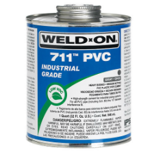 Weld-On 711 Low VOC PVC Solvent Cement, Heavy Bodied, Medium Setting - Process Flow Industrial Supply