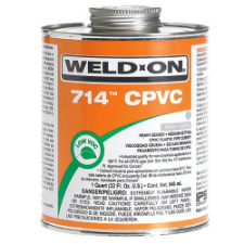 Weld-On 714 Low VOC CPVC Solvent Cement, Heavy Bodied, Medium Setting - Process Flow Industrial Supply