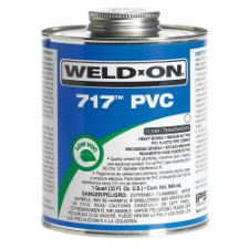 Weld-On 717 Low VOC PVC Solvent Cement, Heavy Bodied, Medium Setting - Process Flow Industrial Supply