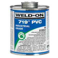 Weld-On 719 Low VOC PVC Solvent Cement, Extra Heavy Bodied, Slow Setting - Process Flow Industrial Supply