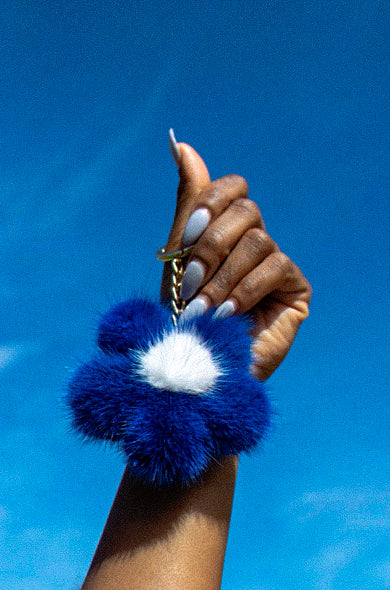 """Royal Blue"" Bloom Keychain"