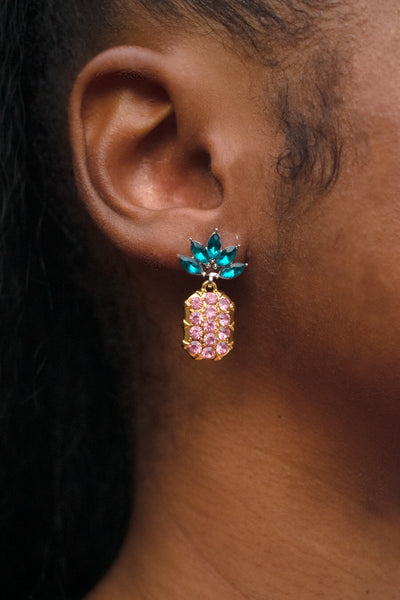 """Fineapple"" Earrings [PINK]"