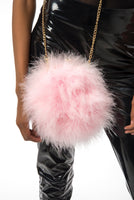 """Baby Girl"" [PINK] Fur Ball Clutch"