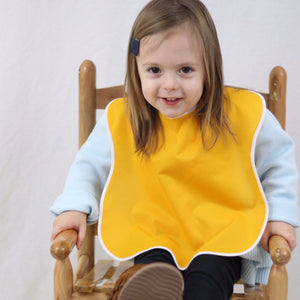 Large Waterproof Toddler Bibs, 4-Packs