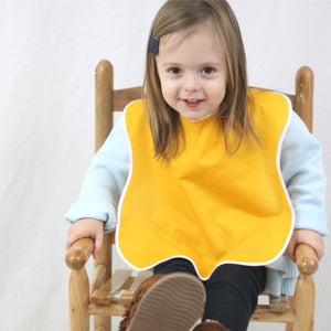 Large Waterproof Bibs for Toddlers, 4-Pack Girls