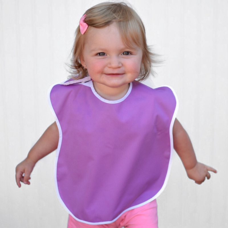 Large Waterproof Bibs for Toddlers 4-Pack (Girls)