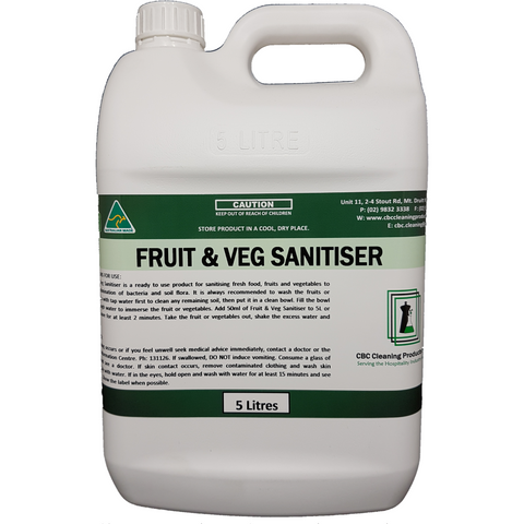 Fruit & Veg Sanitiser - CBC Cleaning Products Pty Ltd.