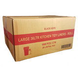 36L Kitchen Tidy Bags - Black 1000 Bags - CBC Cleaning Products Pty Ltd.
