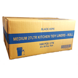 27L Kitchen Tidy Bags - Black 1000 Bags - CBC Cleaning Products Pty Ltd.