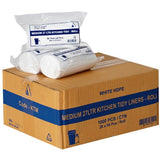 27L Kitchen Tidy Bags - White 1000 Bags - CBC Cleaning Products Pty Ltd.