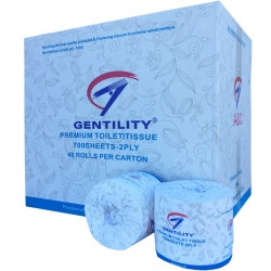 2 Ply Toilet Paper, 700 Sheet - Gentility