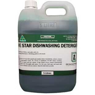Five Star Dishwashing Detergent - CBC Cleaning Products Pty Ltd.