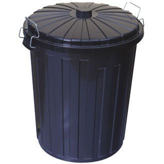 73L Plastic Garbage Bin with Lid - CBC Cleaning Products Pty Ltd.