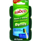 Sponge 3 Pack - Save n' Shine Dish Refills - CBC Cleaning Products Pty Ltd.