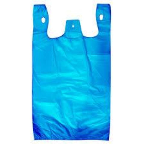 Plastic Singlet Bags - Blue - CBC Cleaning Products Pty Ltd.