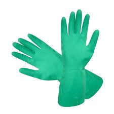Nitrile 330 Gloves, Flocklined, Solvent Resistant - Green - CBC Cleaning Products Pty Ltd.