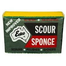 Sponge - Yellow Scourer - CBC Cleaning Products Pty Ltd.