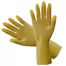Rubber Gloves, Flocklined - Yellow - CBC Cleaning Products Pty Ltd.