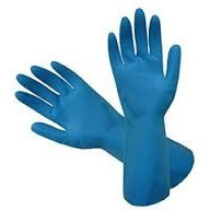 Rubber Gloves, Silverlined - Blue - CBC Cleaning Products Pty Ltd.