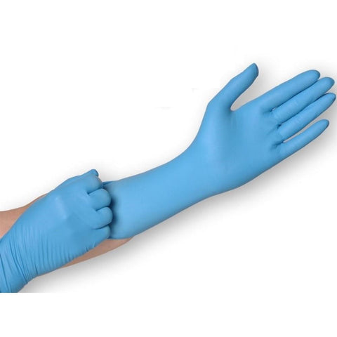 Nitrile, Long Cuff Gloves, Powder Free - 100/Box - CBC Cleaning Products Pty Ltd.