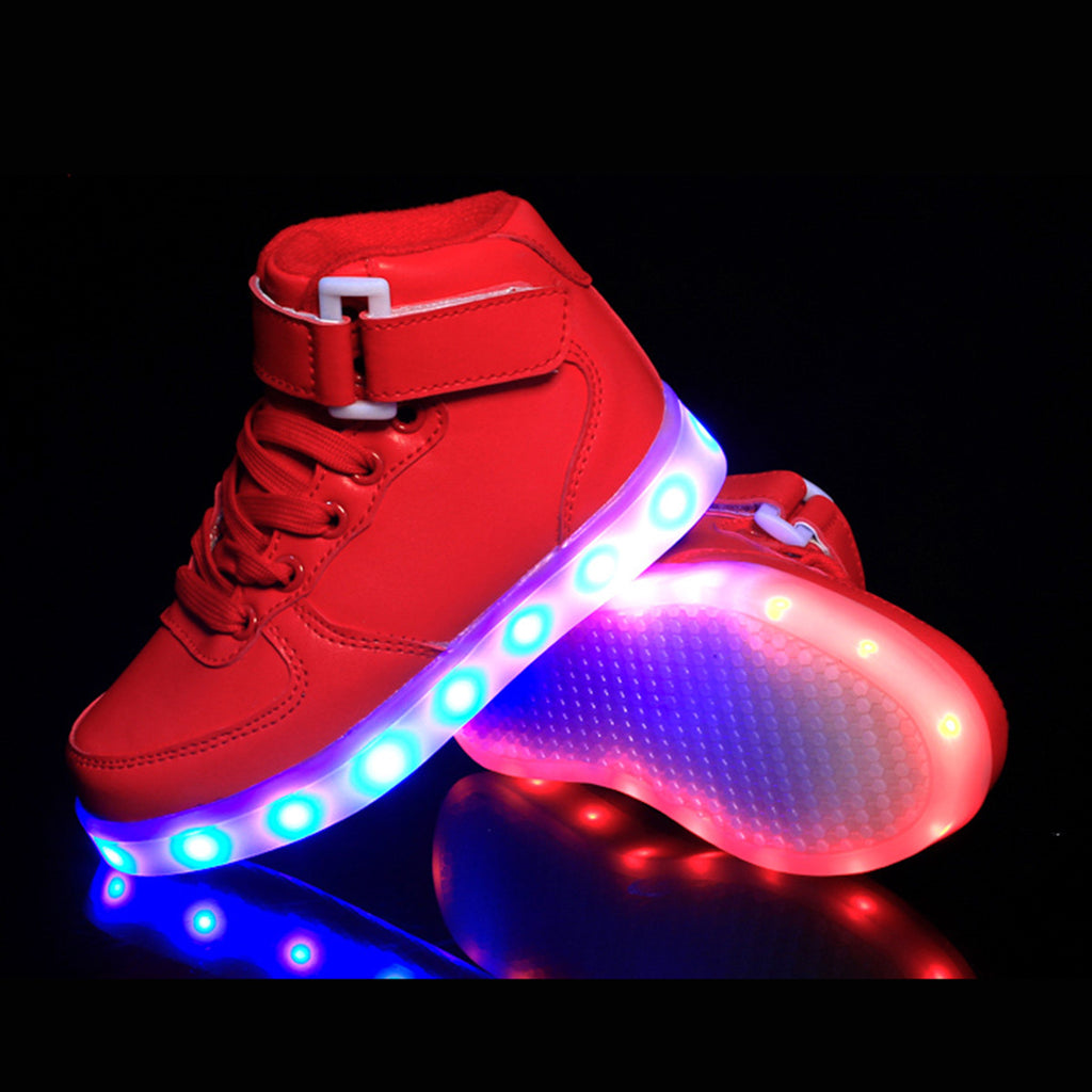 c92a418e0 ... DoGeek Unisex Men Women High Top LED Light up Shoes