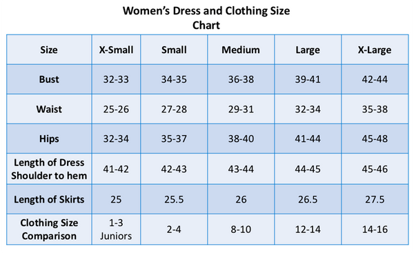 Size Chart Dm Fashion